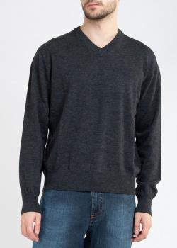 Шерстяной пуловер Billionaire серого цвета, фото
