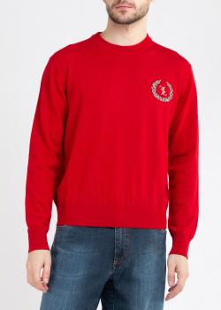 Красный джемпер Billionaire с вышивкой-лого, фото