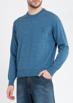 Синий джемпер Billionaire из шерсти мериноса, фото