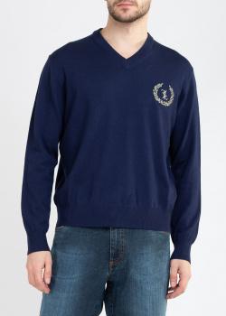 Шерстяной пуловер Billionaire синего цвета, фото