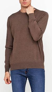 Трикотажный джемпер Azzaro коричневого цвета, фото