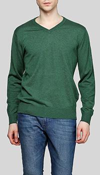 Зеленый пуловер Balmain из шерсти, фото