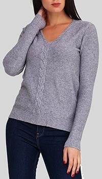 Кашемировый пуловер Cashmere Company с узором-косой, фото