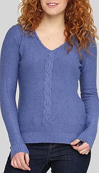 Вязаный джемпер Cashmere Company синего цвета, фото