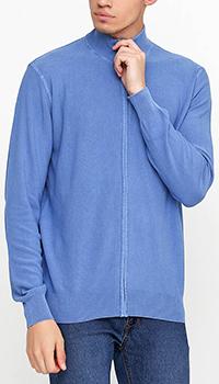 Голубая кофта на молнии Cashmere Company под горло, фото
