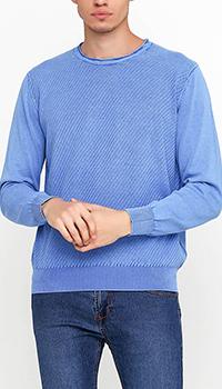 Голубой джемпер Cashmere Company из хлопка, фото