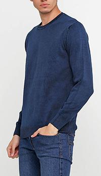 Джемпер Cashmere Company из хлопка синего цвета, фото