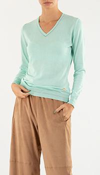 Пуловер Roberto Cavalli бирюзового цвета с кашемиром, фото