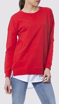 Красный джемпер Silvian Heach с принтом на спине, фото