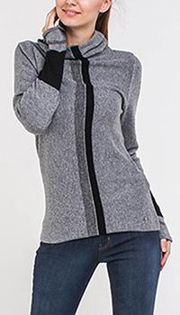 Серый свитер Trussardi Jeans с черными вставками, фото