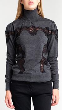Шерстяной гольф Dolce&Gabbana серого цвета, фото