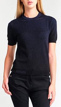 Черно-синий джемпер Fendi с коротким рукавом, фото