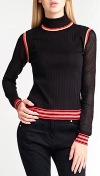 Шелковый гольф Fendi черного цвета, фото