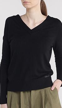 Черный пуловер Liu jo с длинным рукавом, фото