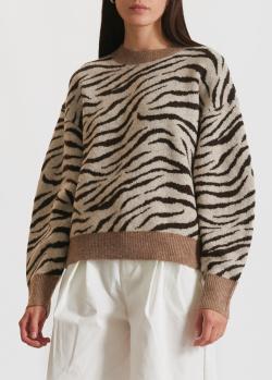 Бежевый свитер Miss Sixty с узором, фото