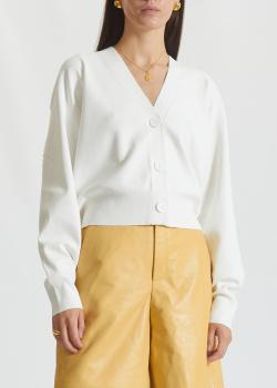 Белый кардиган Miss Sixty с бисерной вышивкой на спине, фото