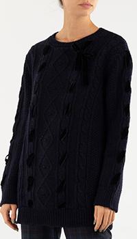 Джемпер Red Valentino темно-синего цвета, фото