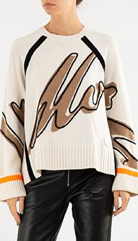 Молочный свитер Bogner с узором, фото