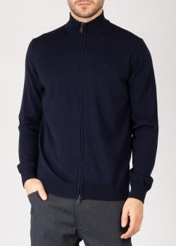 Шерстяная кофта Emporio Armani синего цвета, фото