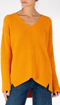 Оранжевый пуловер Riani с разрезами, фото