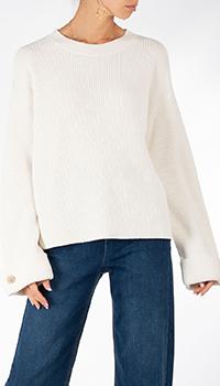 Белый свитер Riani с широкими рукавами, фото