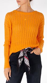Оранжевый джемпер Riani в рубчик, фото
