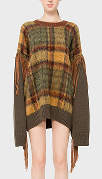 Шерстяной свитер Dsquared2 с бахромой, фото