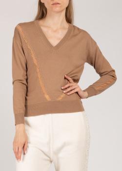 Пуловер Patrizia Pepe с кружевными вставками, фото