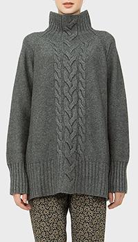 Кашемировый свитер MaxMara с вязкой в виде косы, фото
