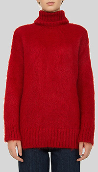 Однотонный свитер N21 красного цвета, фото