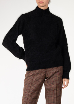 Ангоровый свитер Alberta Ferretti черного цвета, фото