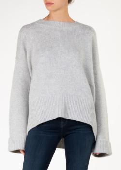 Кашемировый свитер-оверсайз Arch4 серого цвета, фото