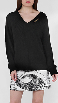 Пуловер Cavalli Class с металлическим декором, фото
