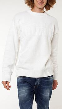 Белый свитер Versace Jeans Couture с вышитым лого, фото