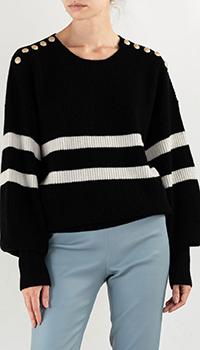 Черный свитер Max&Moi в полоску, фото
