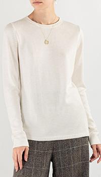 Белый джемпер Max&Moi из шелка и шерсти, фото