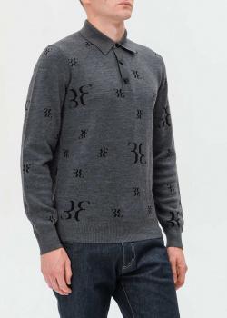 Джемпер-поло Billionaire серого цвета, фото