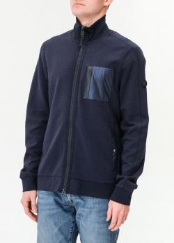 Темно-синяя кофта Bogner с высоким воротником, фото