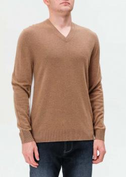 Бежевый пуловер Bogner из шерсти с кашемиром, фото