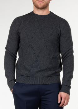 Шерстяной свитер Brioni с ромбовидным узором, фото