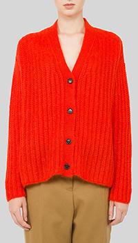 Вязаный кардиган Marni красного цвета, фото