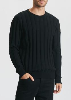 Черный свитер Paul&Shark с вертикальными полосками, фото