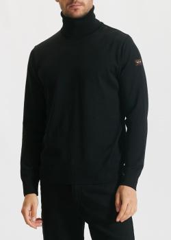Шерстяной гольф Paul&Shark черного цвета, фото