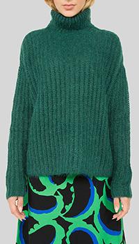 Зеленый свитер Marni с объемной вязкой, фото