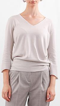 Светло-серый пуловер Fabiana Filippi из хлопка, фото