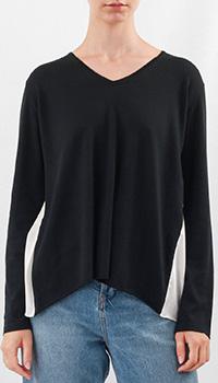 Темно-синий пуловер Fabiana Filippi свободного кроя, фото
