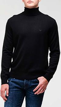 Черный гольф Emporio Armani с вышивкой-лого, фото