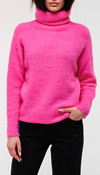 Розовый свитер Emporio Armani из мохера, фото
