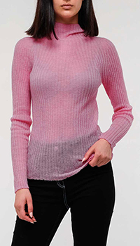 Свитер Emporio Armani из шерсти альпаки розового цвета, фото