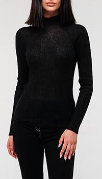 Черный свитер Emporio Armani из шерсти альпаки, фото